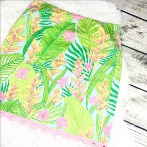Lilly Pulitzer White Tag Printed Bright Skirt 6